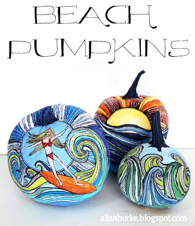 Painted Beach Pumpkins