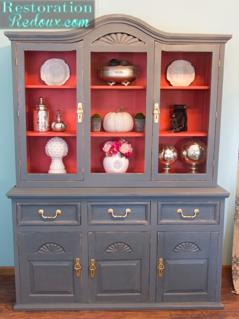 6 ways to refinish tables desks buffets sand and sisal for Painted dining room hutch ideas