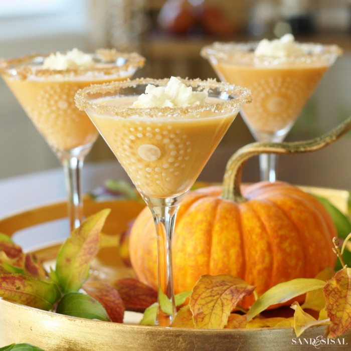 Pumpkin Pie Whipped Cream Martini Recipe