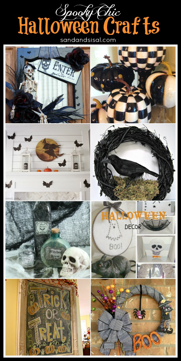 8 spooky chic halloween decor crafts sand and sisal. Black Bedroom Furniture Sets. Home Design Ideas