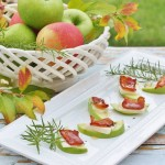 Thanksgiving Appetizer - Honey Drizzled Apple Gouda Bacon Bites