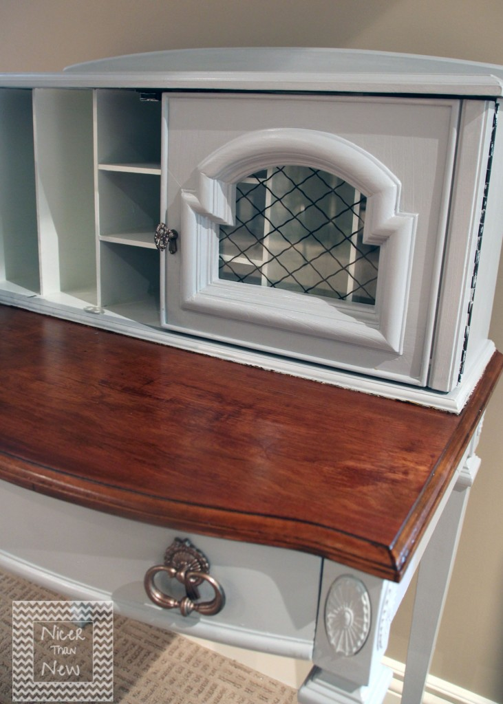 Two Toned Vintage Secretary Desk