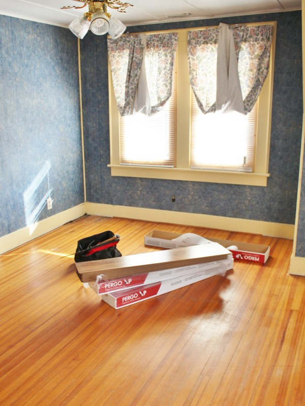 Add new flooring to water damaged room