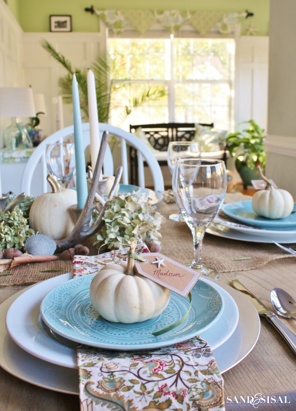 Coastal Thanksgiving Table