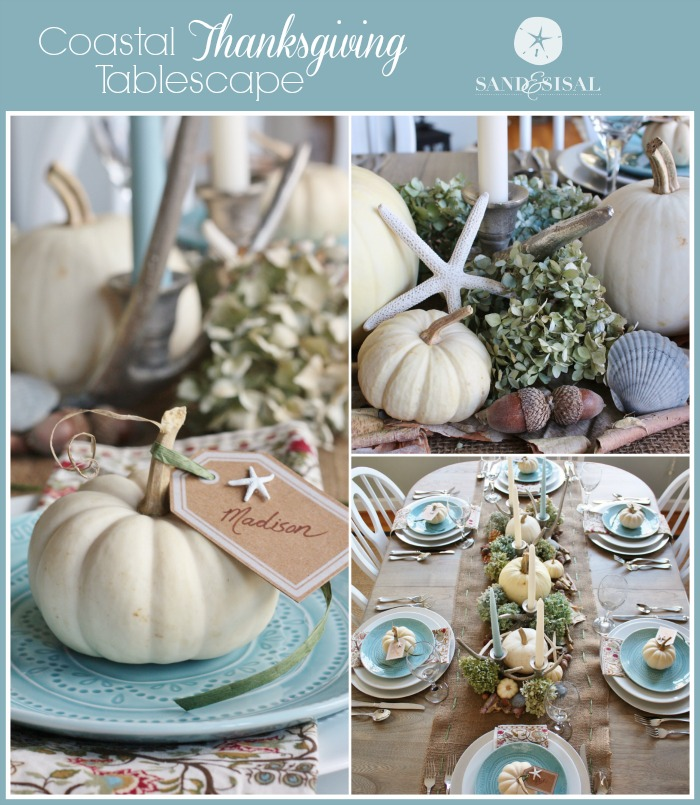 Coastal Thanksgiving Tablescape