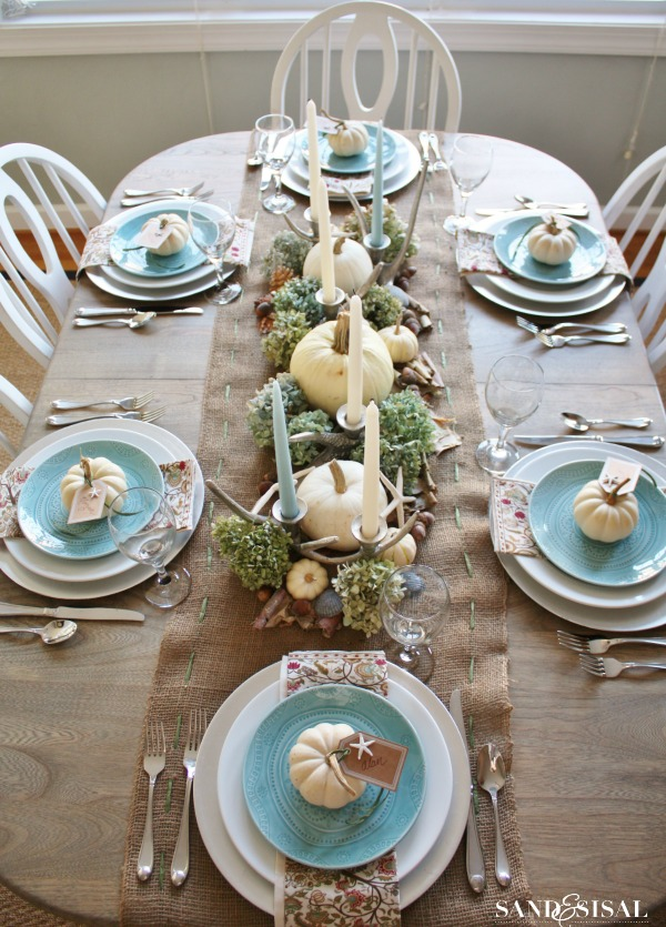 Coastal Thanksgiving - Tablescape