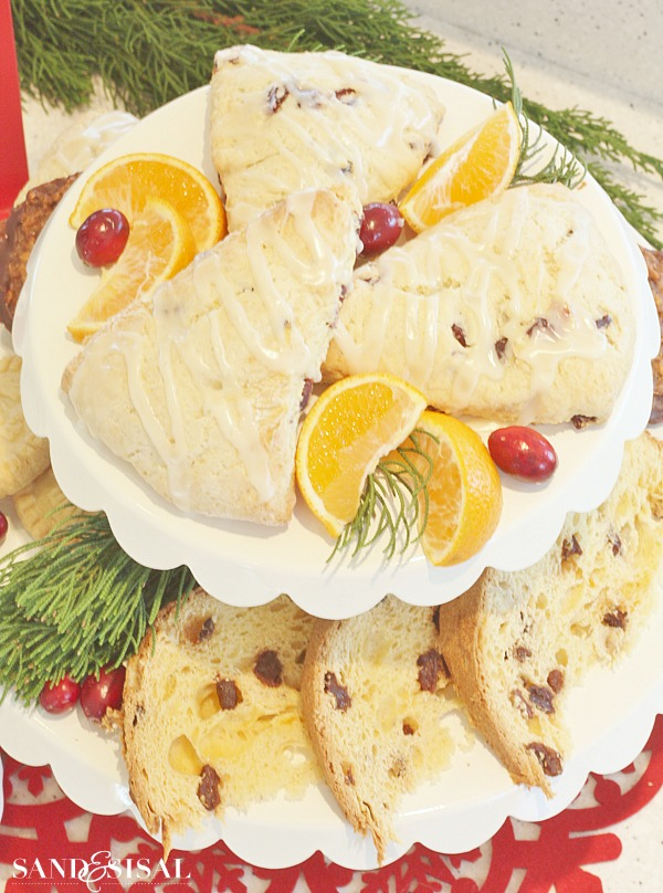 Cranberry Orange Scones & Panettone