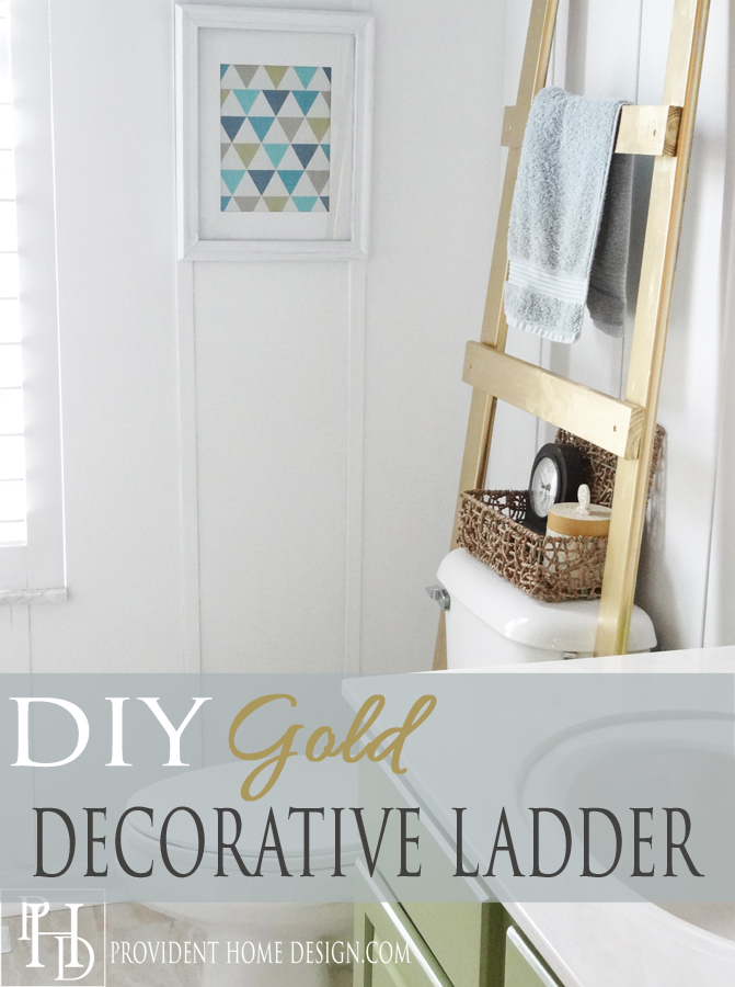 DIY-Gold-Ladder-Towel-Holder