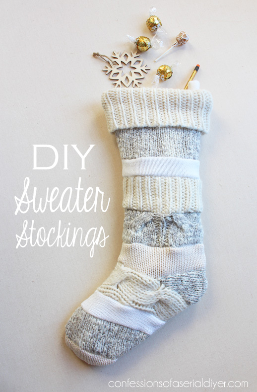 Anthropologie Inspired DIY Sweater Stockings