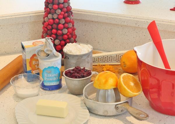 Ingredients for Cranberry Orange Scones
