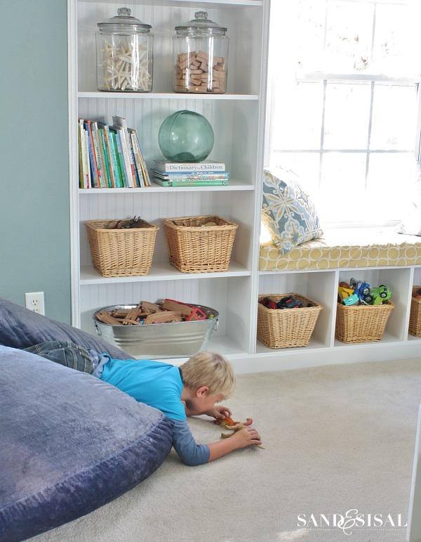 Playroom Storage Ideas + Built-ins