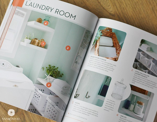 Sand and Sisal's Laundry Room -Organizing Your Life