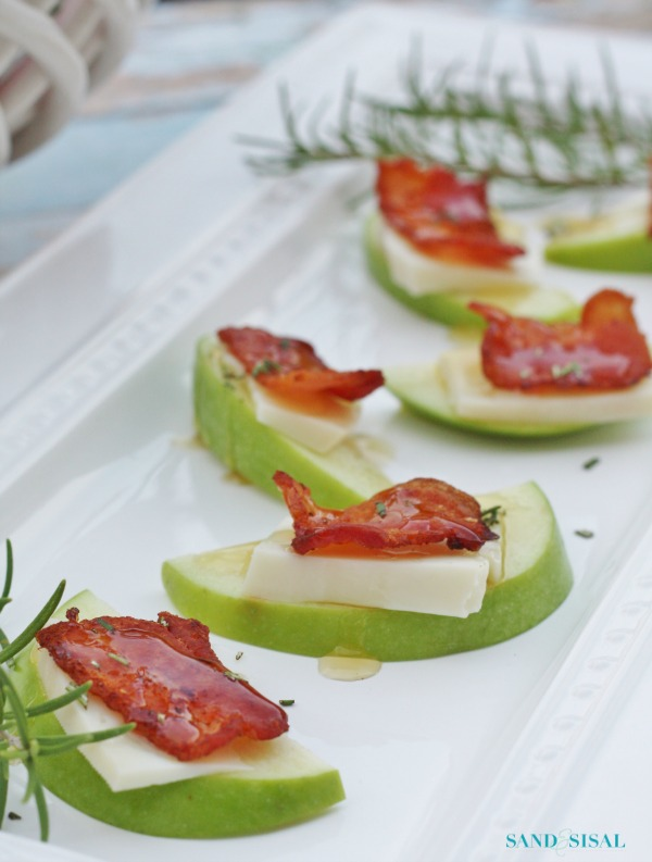 Thanksgiving Appetizer - Apple Gouda Bacon Bites