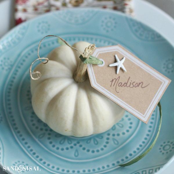 White Pumpkin Placecard