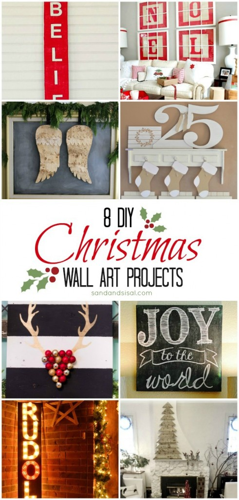 8 DIY Christmas Wall Art Projects