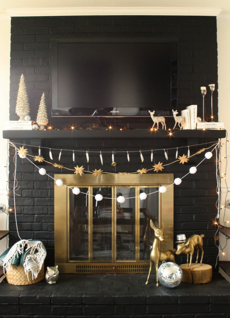 Black and White Eclectic Mantel
