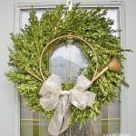 Boxwood Wreath - Christmas Home Tour