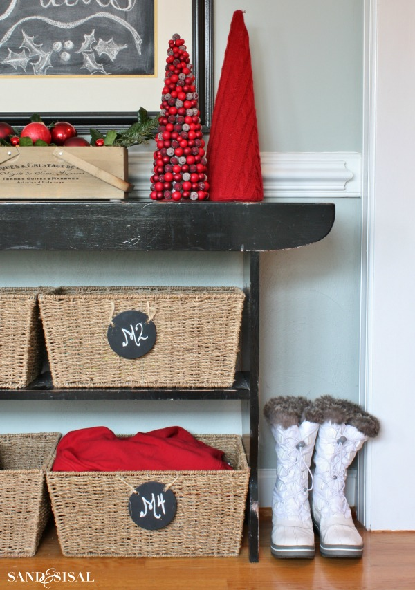 Christmas Home Tour - Winter White Boots