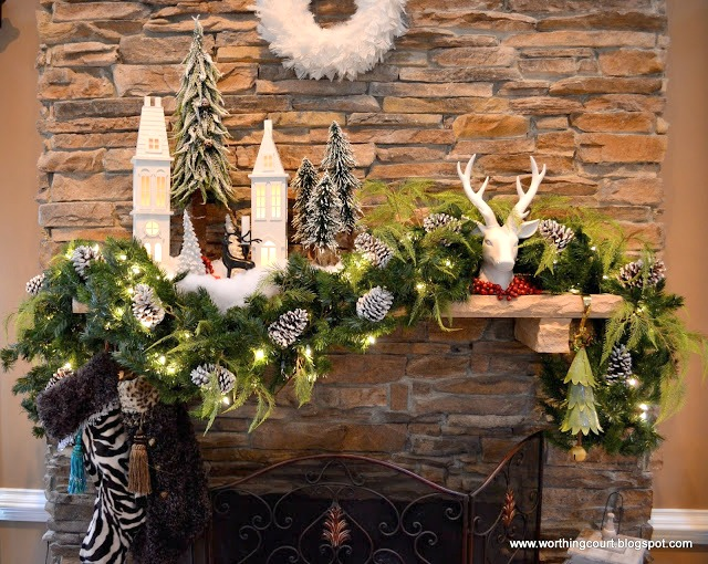 Woodland Village Christmas Mantel Via Worthing Court