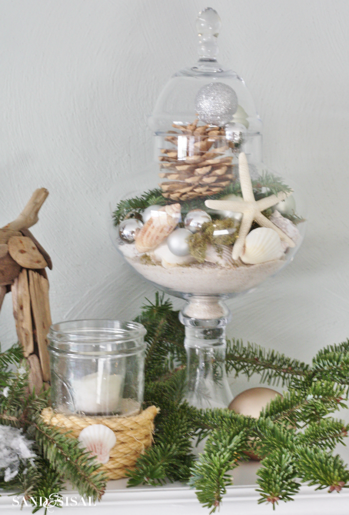 Coastal Christmas Apothecary Jar