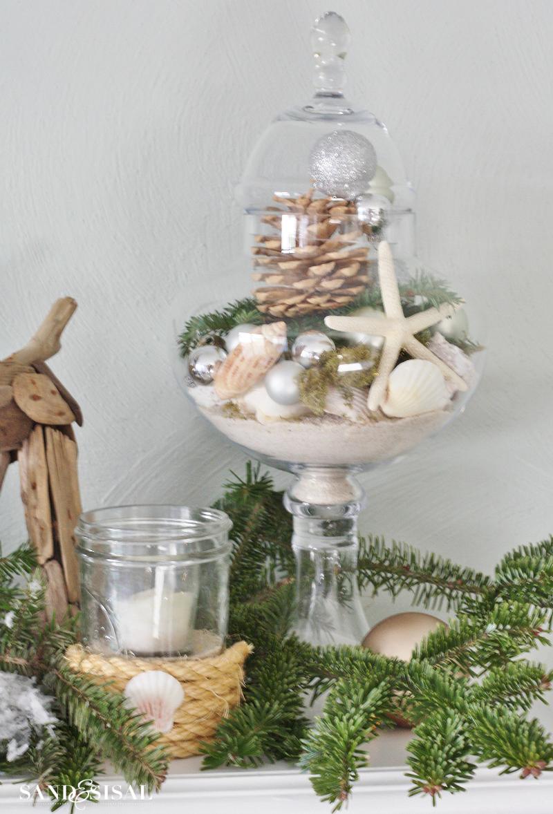 Coastal Christmas Apothecary Jar
