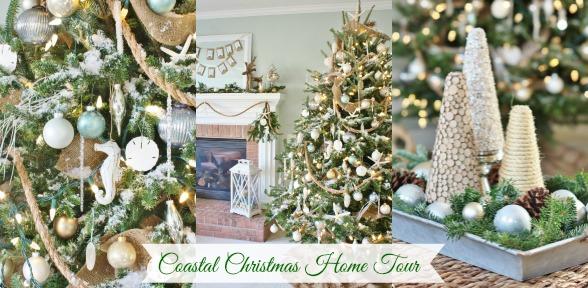 Coastal Christmas Home Tour slide