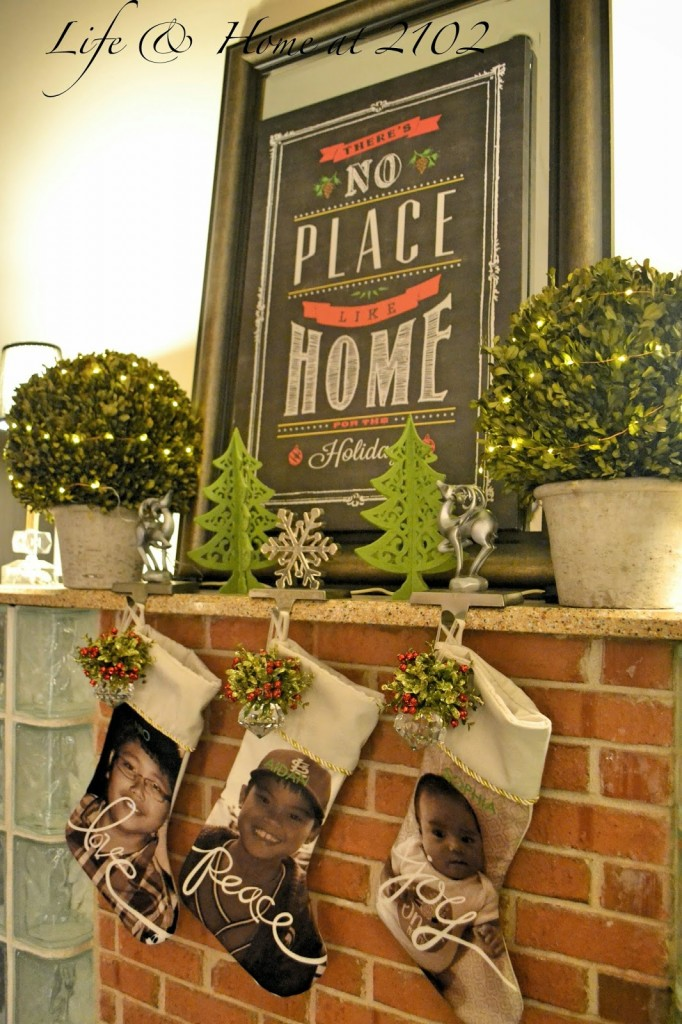 Cozy Family Christmas Mantel