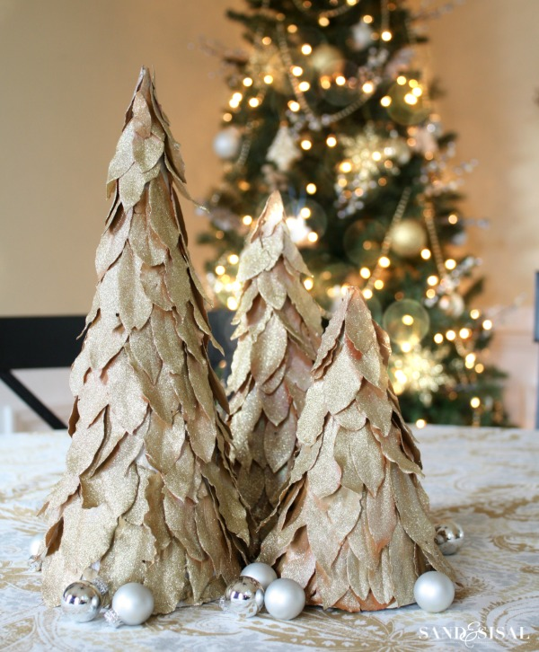 DIY Bay Leaf Christmas Trees