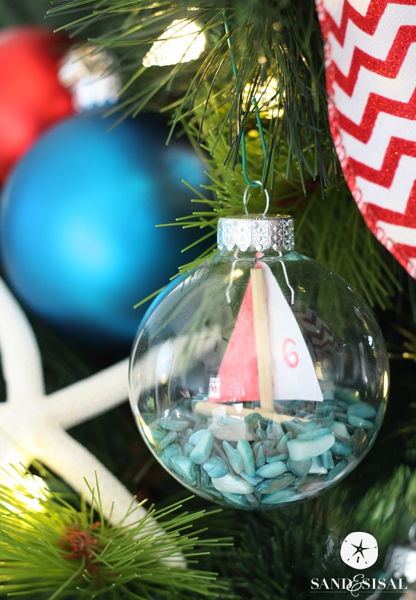 sailboat ornaments coastal christmas decor - Nautical Christmas Decorations