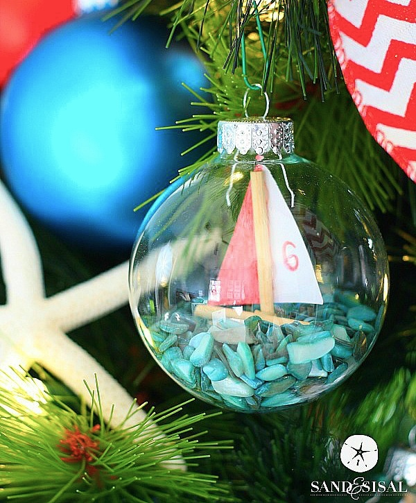 Sailboat Ornaments - Coastal Christmas Decor