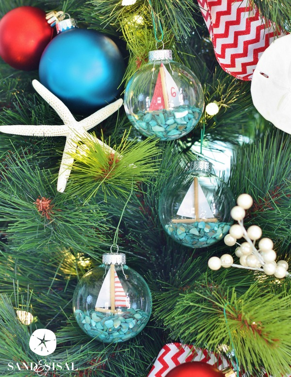 Sailboat Ornaments - Coastal Christmas