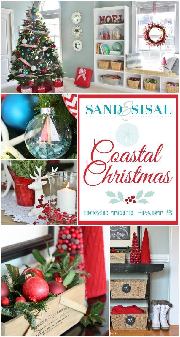 Sand & Sisal's Coastal Christmas Home Tour Part 2