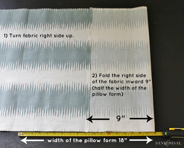 Sewing a pillow cover
