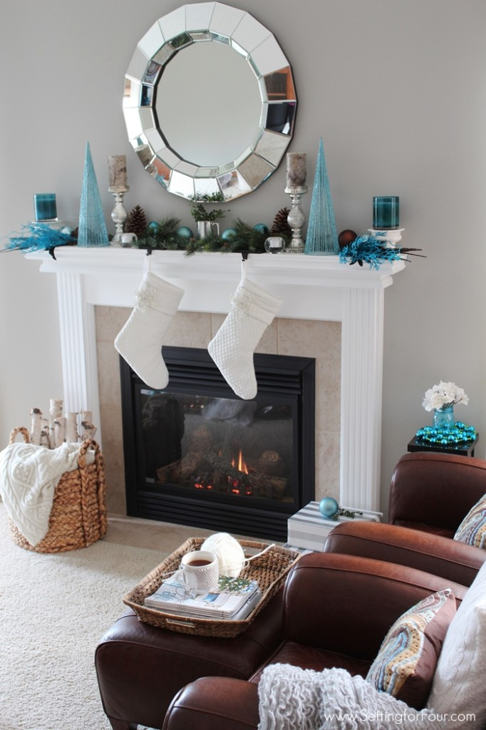 Glam Christmas Mantel