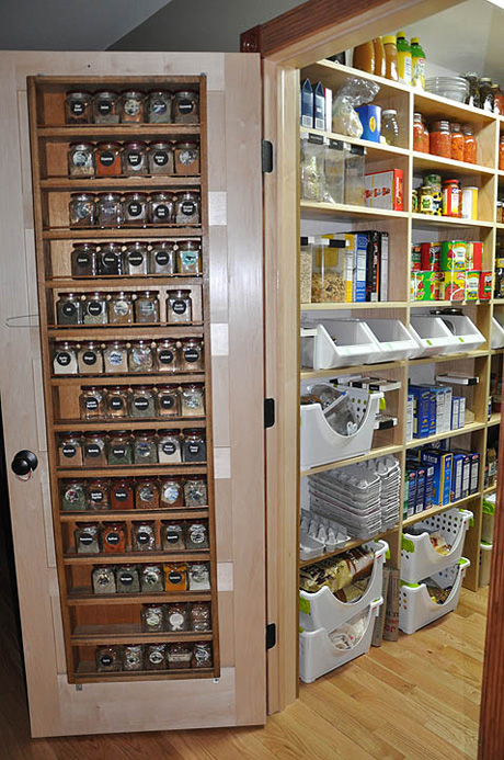 Spice Rack On Pantry Door 460 x 693