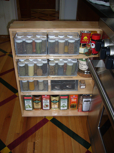 spice rack storage solutions sand  sisal