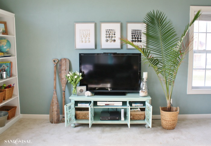 Entertainment center organization giveaway for Kirkland living room ideas