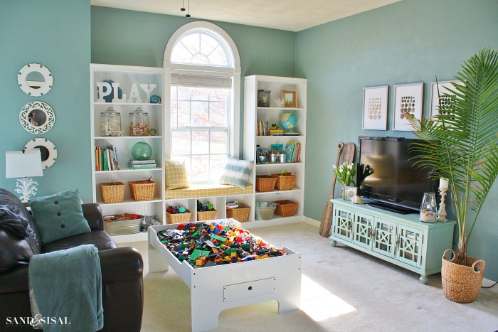 Organized Playroom - Entertainment Room