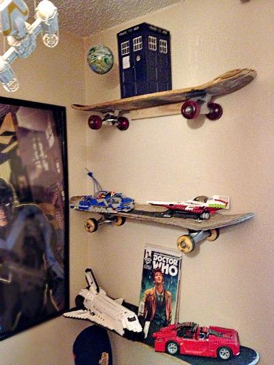 Skate Board Shelves