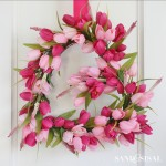 Tulip Heart Wreath Valentines Day