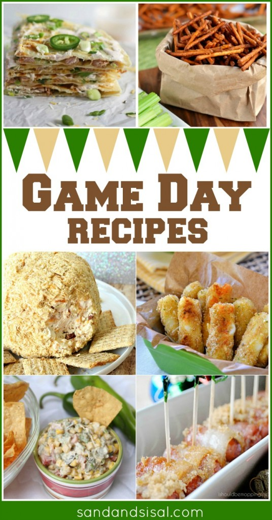 game day recipes, snacks, and appetizers