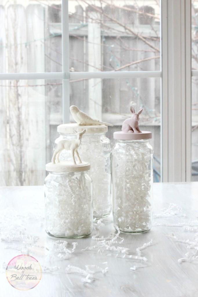 DIY Painted Animal Jars