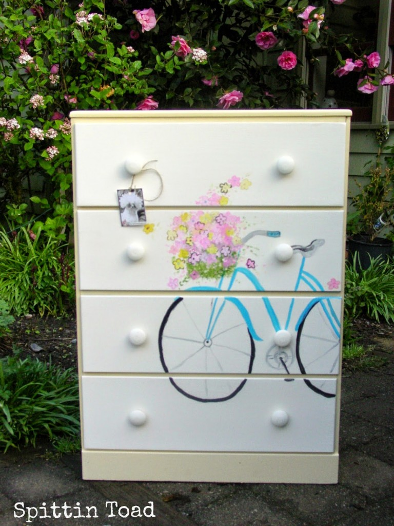 Bicycle Painted Dresser Makeover
