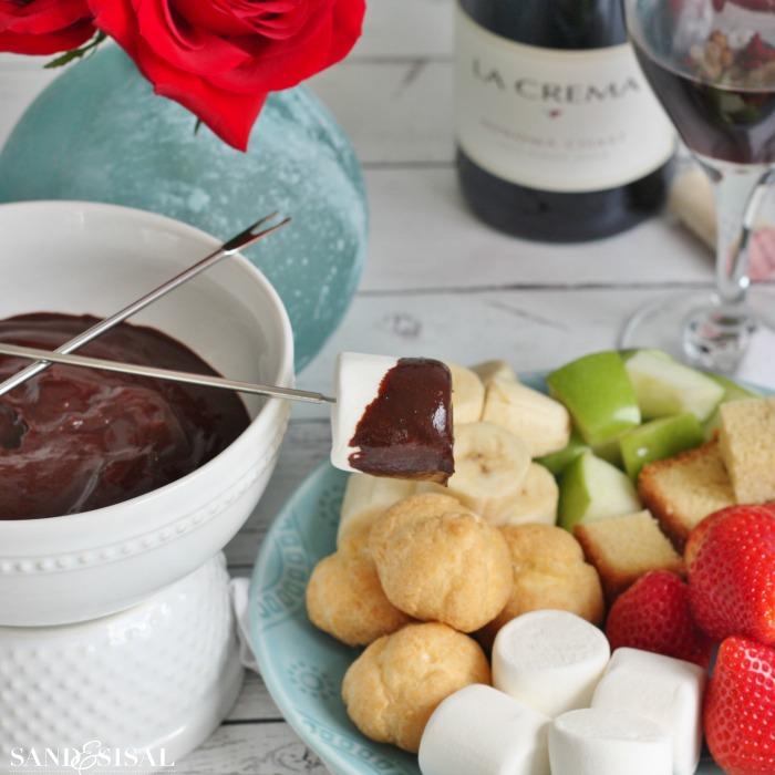 Chocolate Fondue for 2