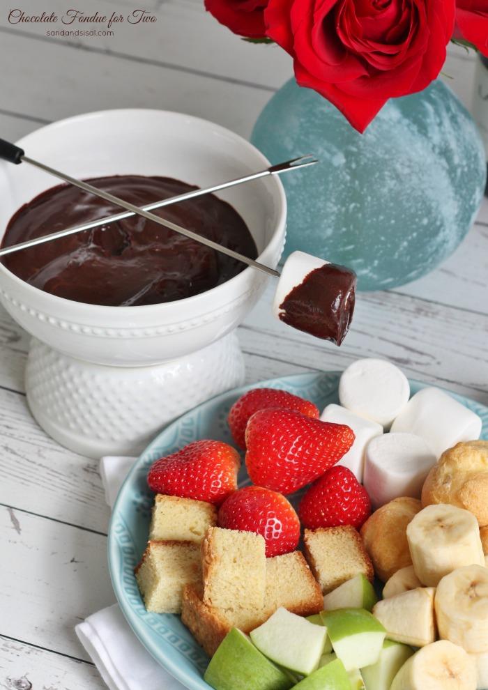 Chocolate Fondue for Two Recipe