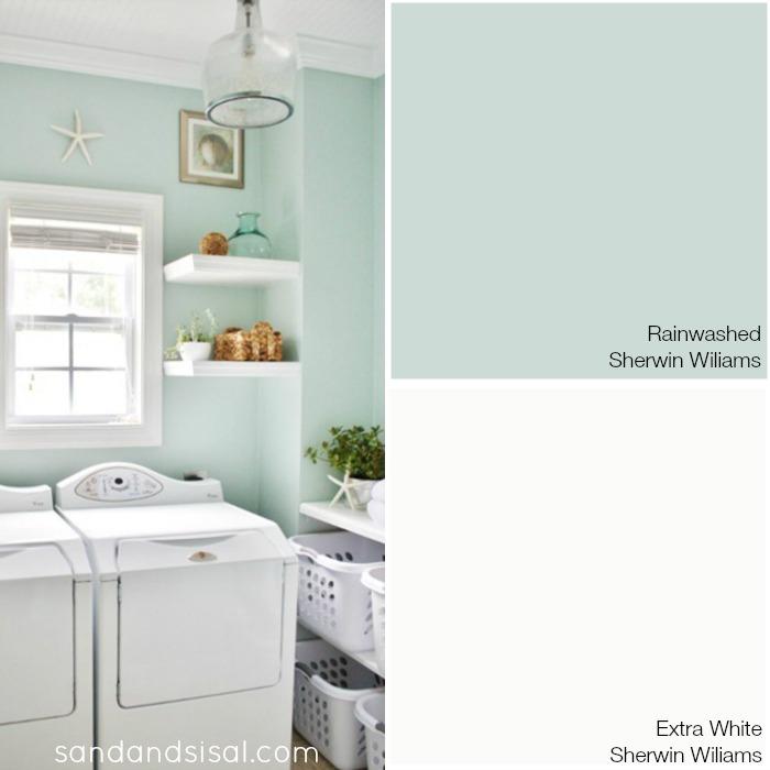 Benjamin moore palladian blue bathroom - My Coastal Colors Sand And Sisal
