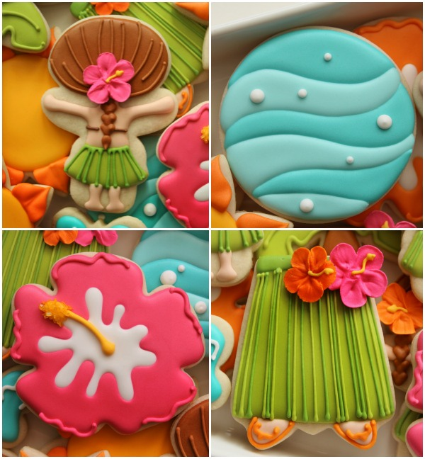 Decorated-Hawaiian-Luau-Cookies