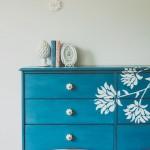 Dresser Makeover with Floral Detail