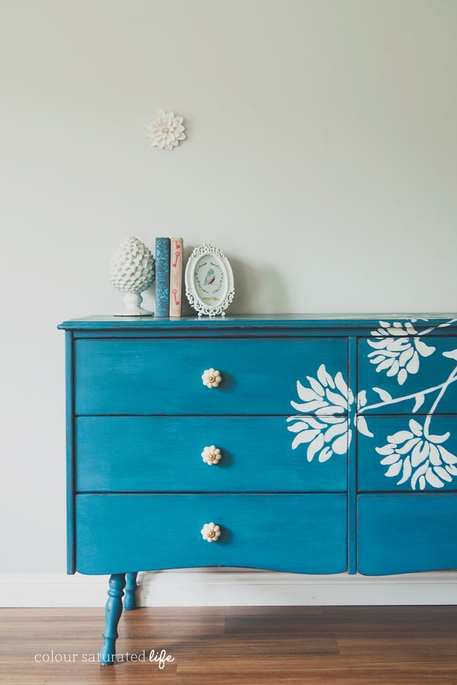 Ordinaire Dresser Makeover With Floral Detail · U201c