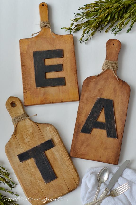 New EAT Cutting Board Wall Art